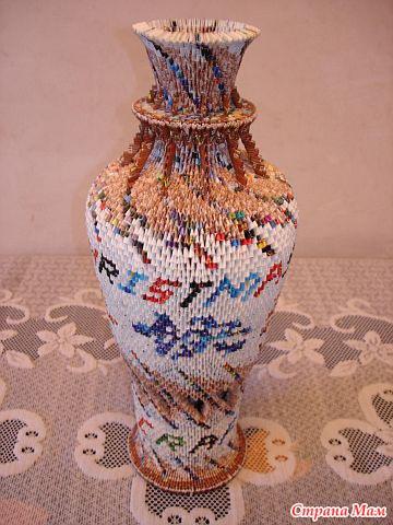 Большая напольная ваза своими руками из модулей 17