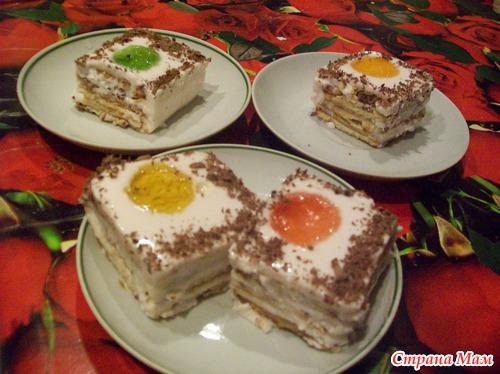 Торт из готового печенья без выпечки