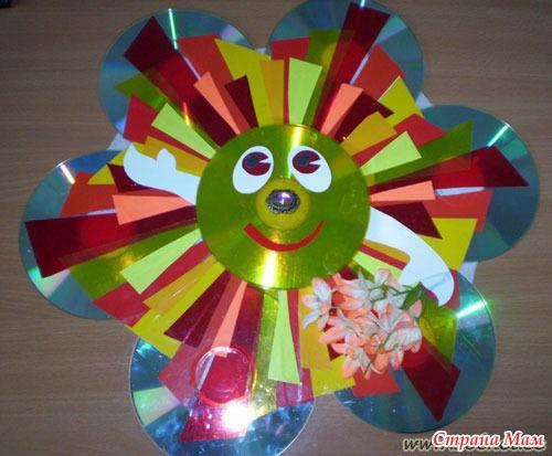 Поделки из дисков своими руками для детского сада фото