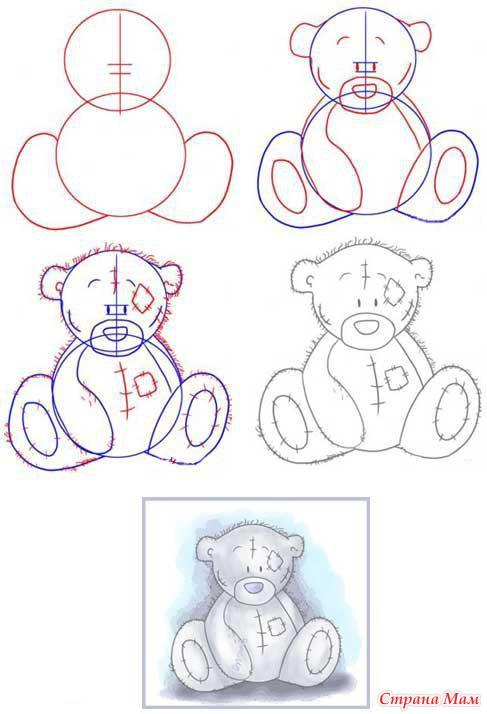Мишка Тедди. Подробная схема