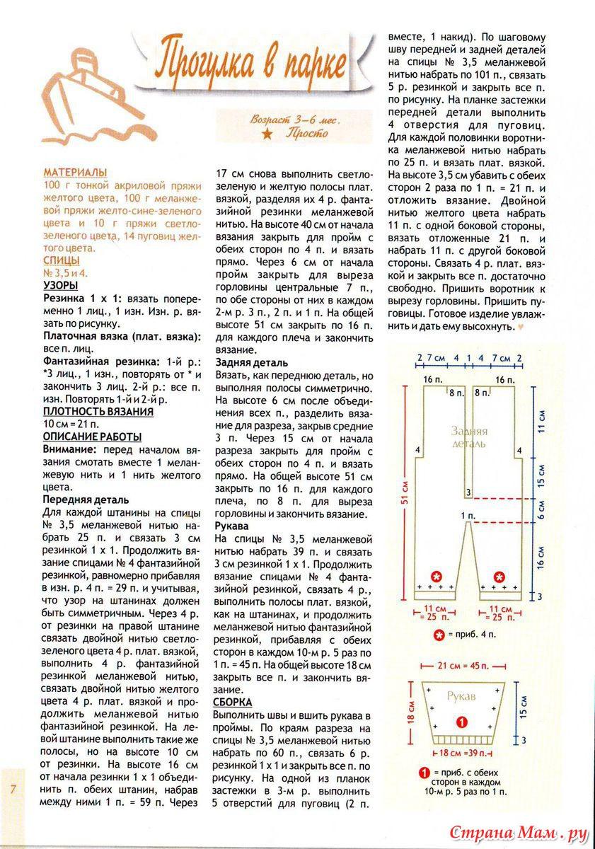 Схема вязания полукомбинезона спицами 49