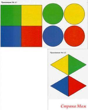 знакомство с кругом квадратом треугольником