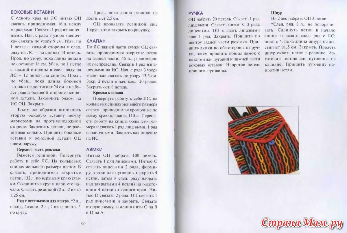 Вязанные рюкзаки крючком схемы и описания фото