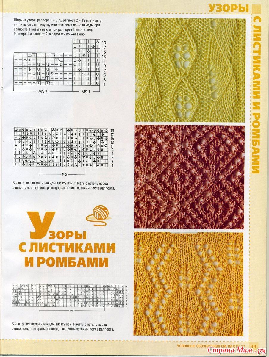 Узоры вязания спицами для самых маленьких