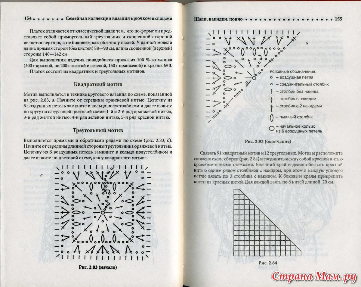 Вязание круга столбиками с накидом 33