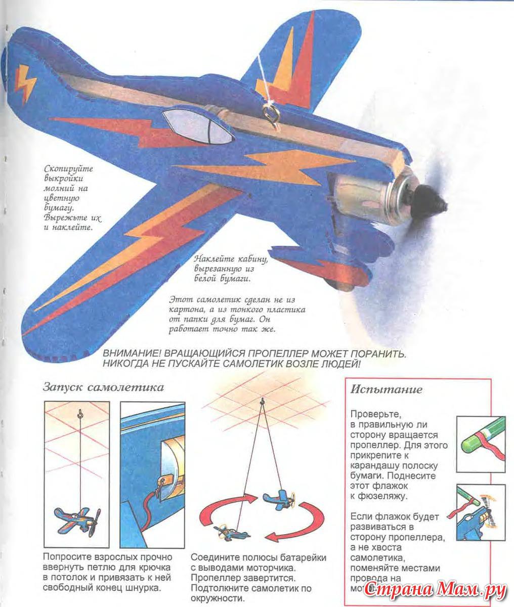 Как сделать самолет на пульте управления в домашних условиях схемы
