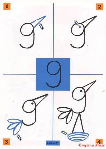 Как сделать животные из цифр