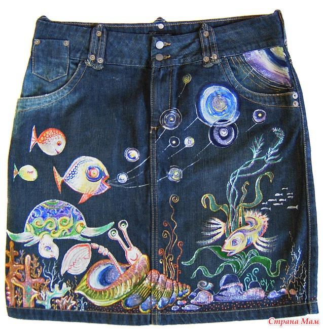 Краски для джинсовой ткани для росписи