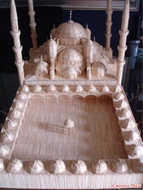 Мечеть из спичек своими руками 45