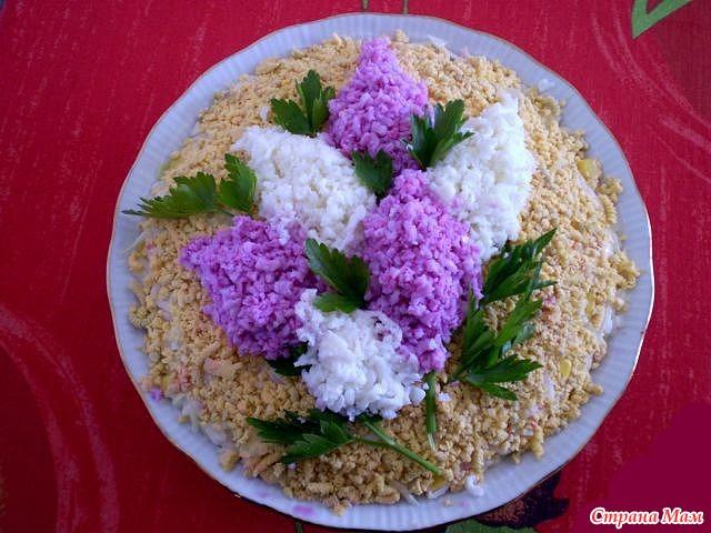 Как можно украсить салат фото