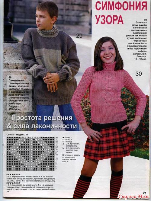 вязание на 15 лет