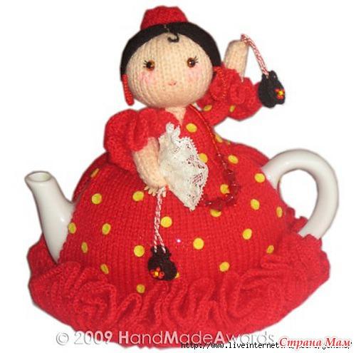 Кукла на чайник своими руками связать