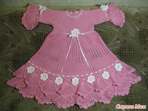 Вязанные платьица - Вязание для детей - Страна Мам
