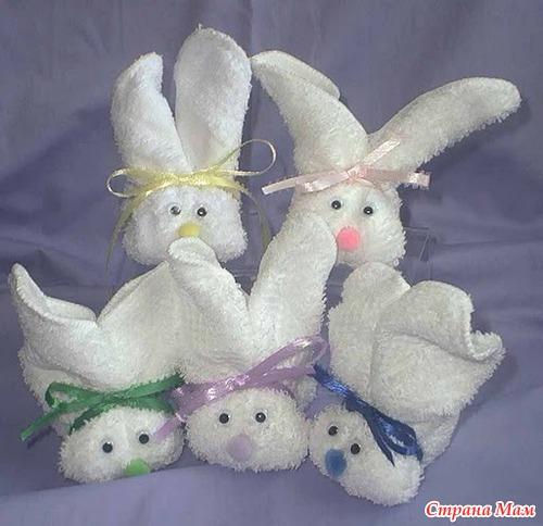 Заяц из полотенец своими руками