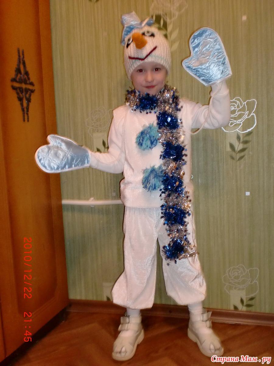 Шьем своими руками новогодний костюм снеговика фото