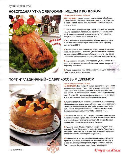 Праздничные кулинарные рецепты на новый год