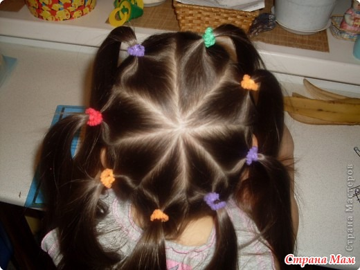 Прически из хвостов на короткие волосы