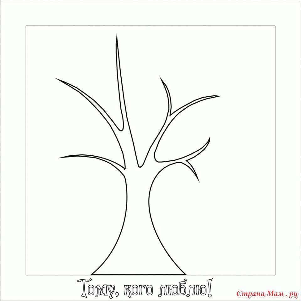 Деревья: шаблоны и трафареты для вырезания 33 Поделки