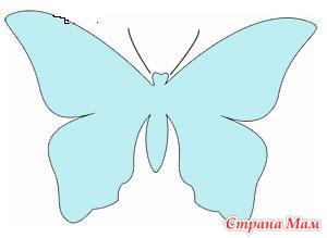 Аппликация из бумаги. Бабочка - Поделки - Страна Мам
