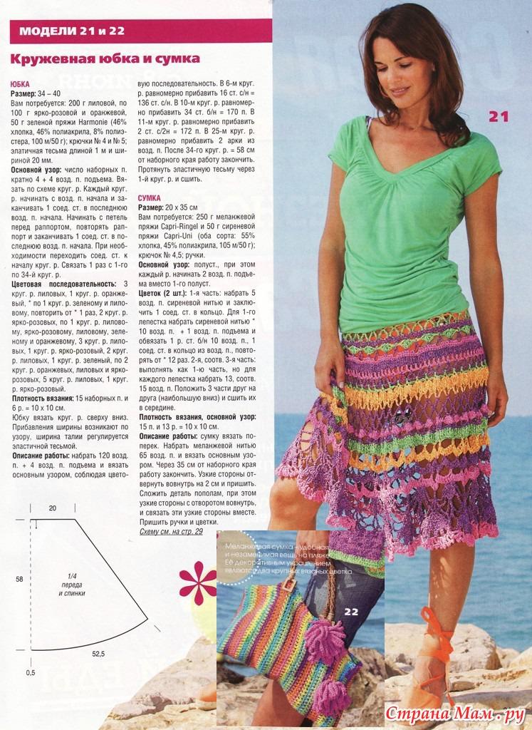 Вязание крючком юбки для полных женщин 33