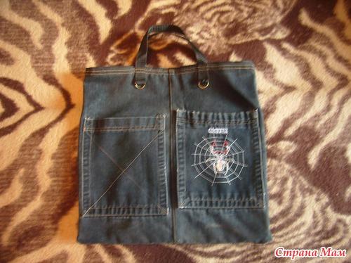 Сшить сумку из старых джинсов для обуви 99
