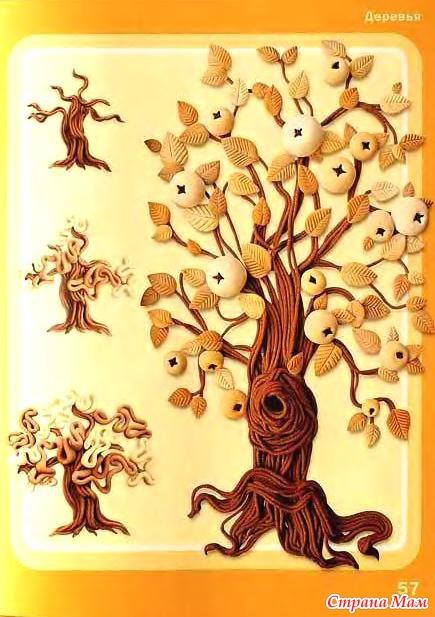 Лепка своими руками деревья