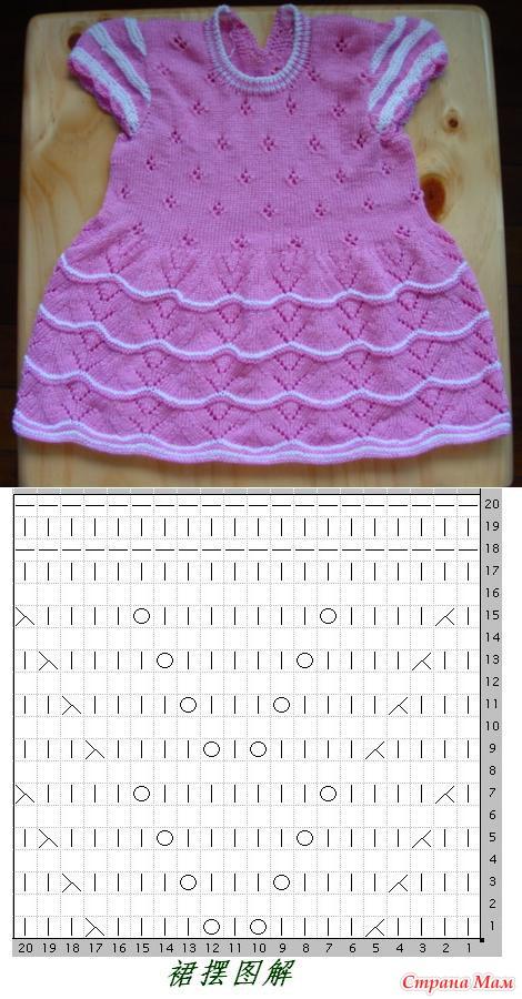 Узор для вязания детского платья 991