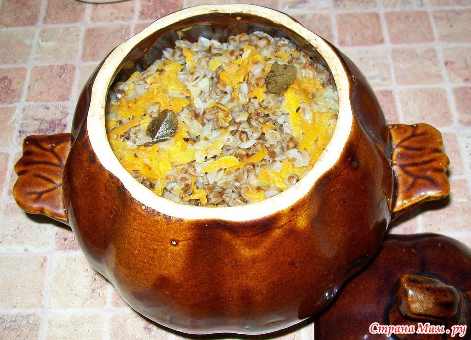 Рецепт гречки в горшочках