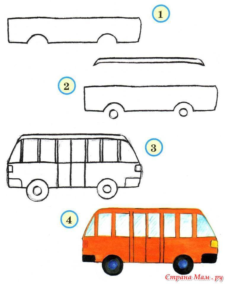 Рисунок схема автобуса