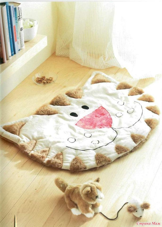 Детский прикроватный коврик своими руками