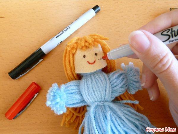 Поделки своими руками куклы из ниток