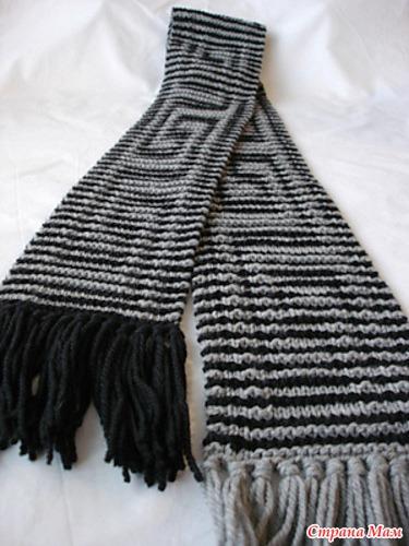 при вязании шарфов в моем