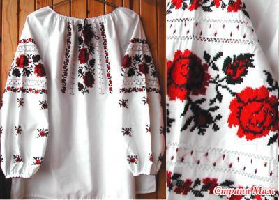 Украинская вышивка сорочка