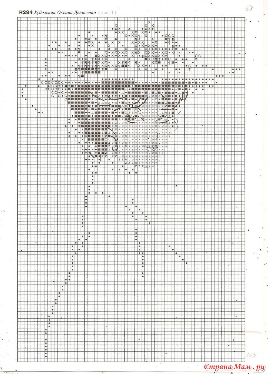 Схема вышивки крестом женщины 8 фотография