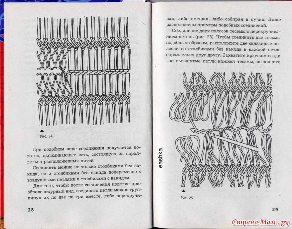 Как вязание на вилке 915