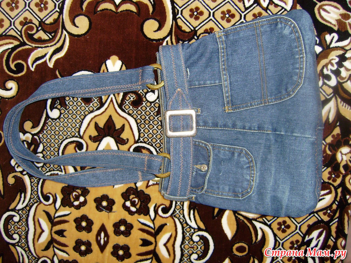 Сшить сумку из старых джинсов для обуви 41