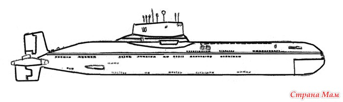 нарисовать рисунок подводную лодку