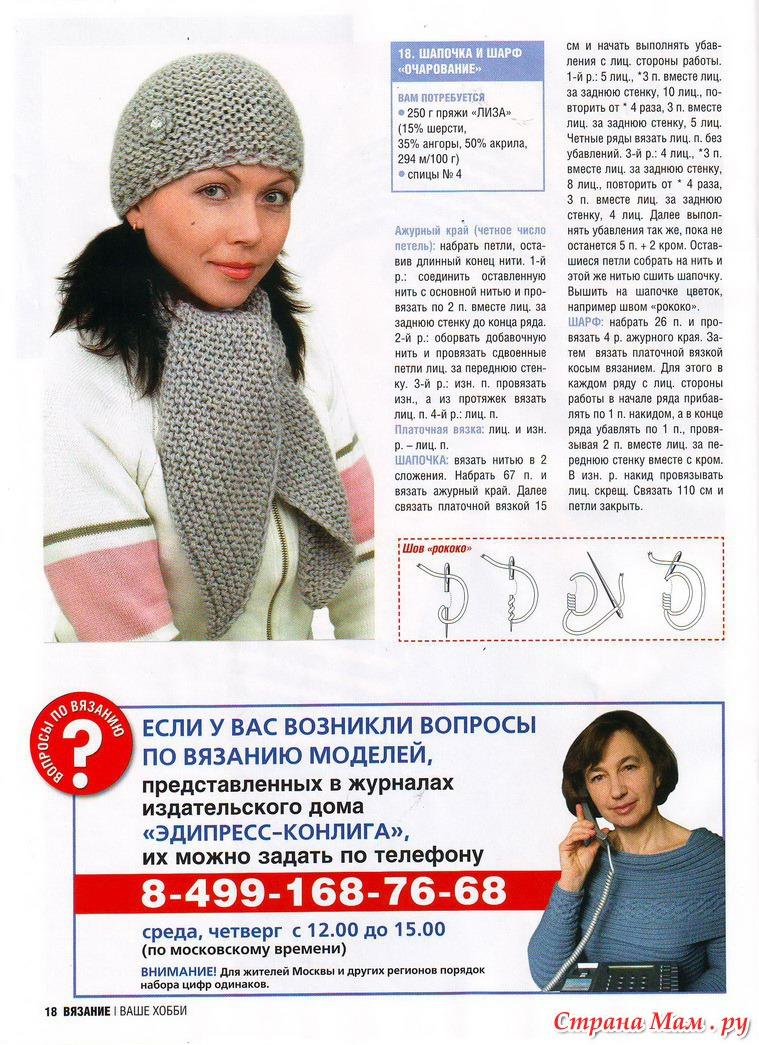 Модные шапки вязание на спицах для женщин