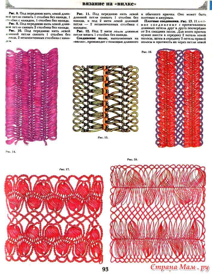 Вязание на вилке-соединение