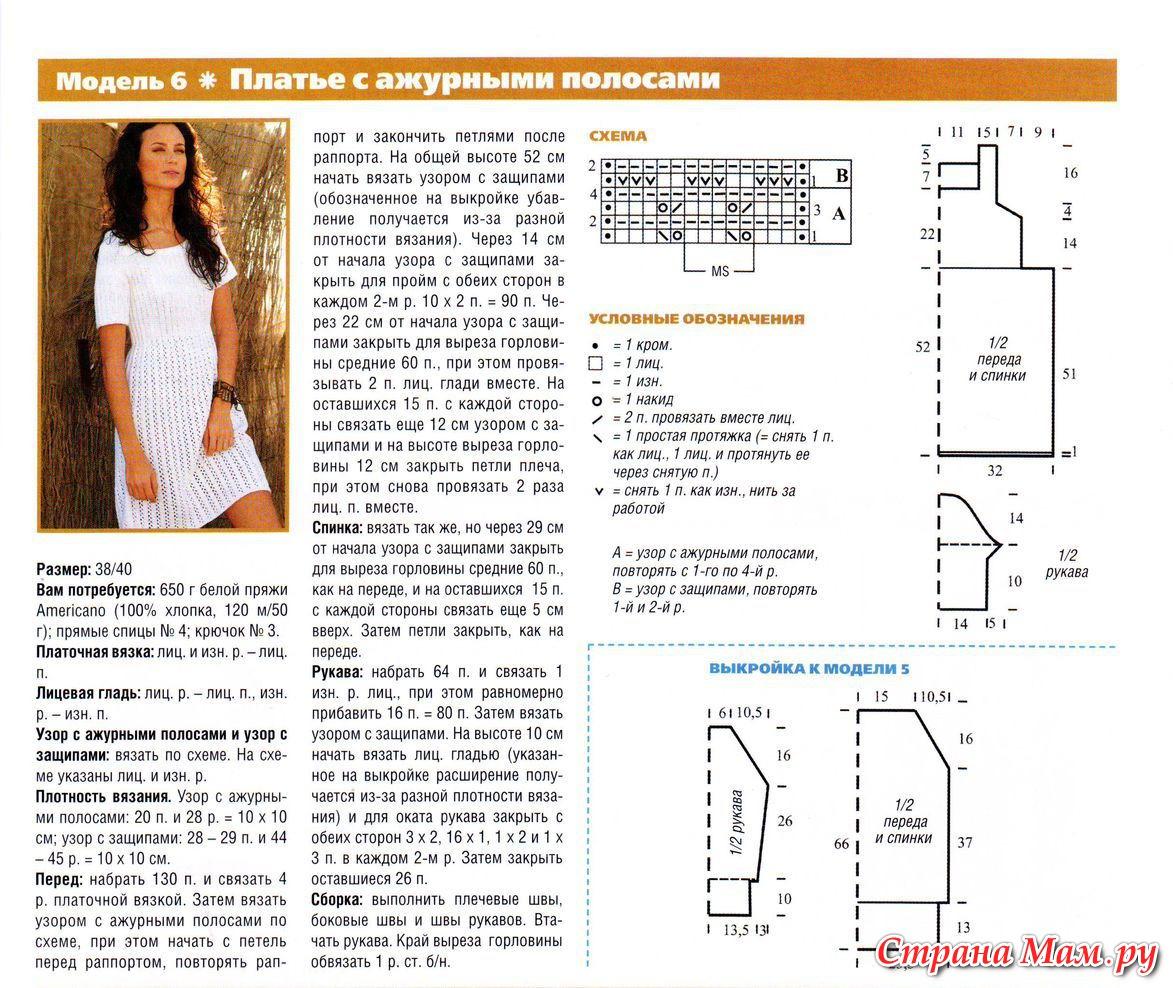 Платья для вязания спицами