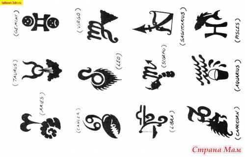 Тату символы с обозначением для девушек