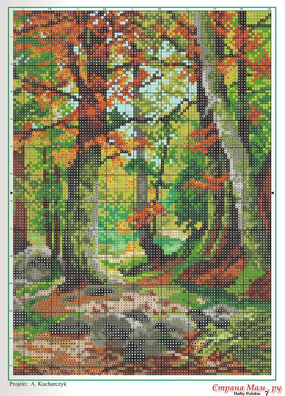 Вышивки природа пейзажи