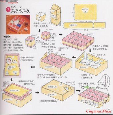 Как сделать коробку с отделами своими руками 80