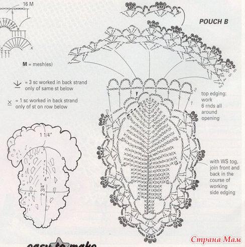 Вязание крючком схема чехол для мобильного