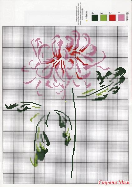 Тэги: вышивка, схемы, цветы