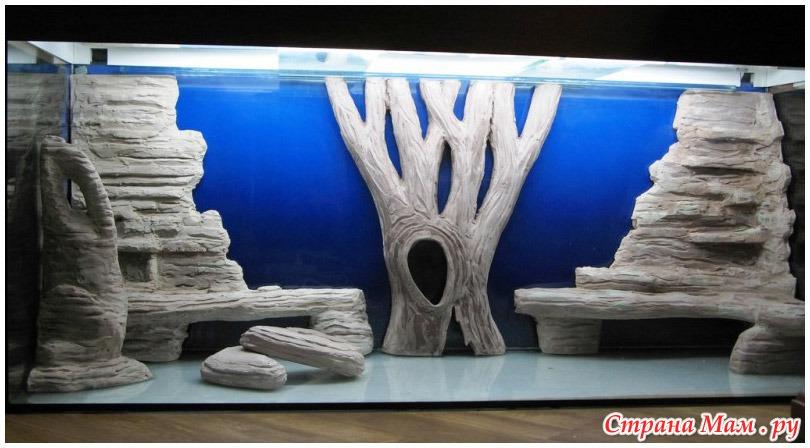 Как сделать объемный фон в аквариум