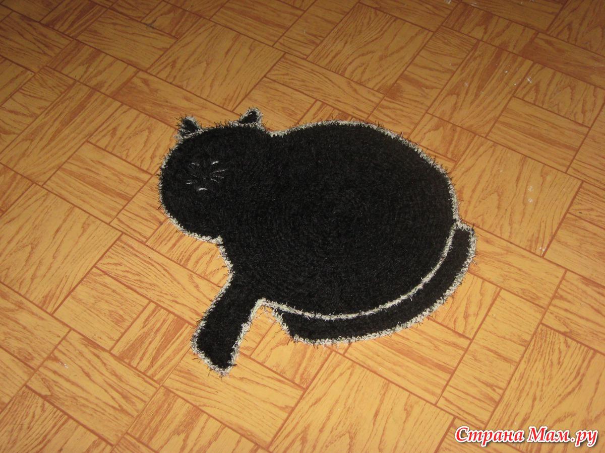Вязание коврик для кошки