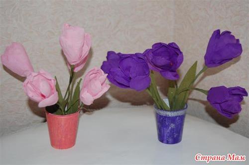 Цветы своими руками к 8 марта - Страна Мам