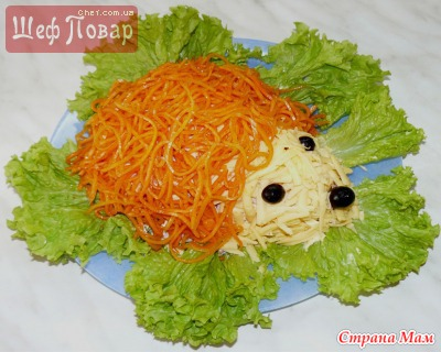 Салат ёжик фото