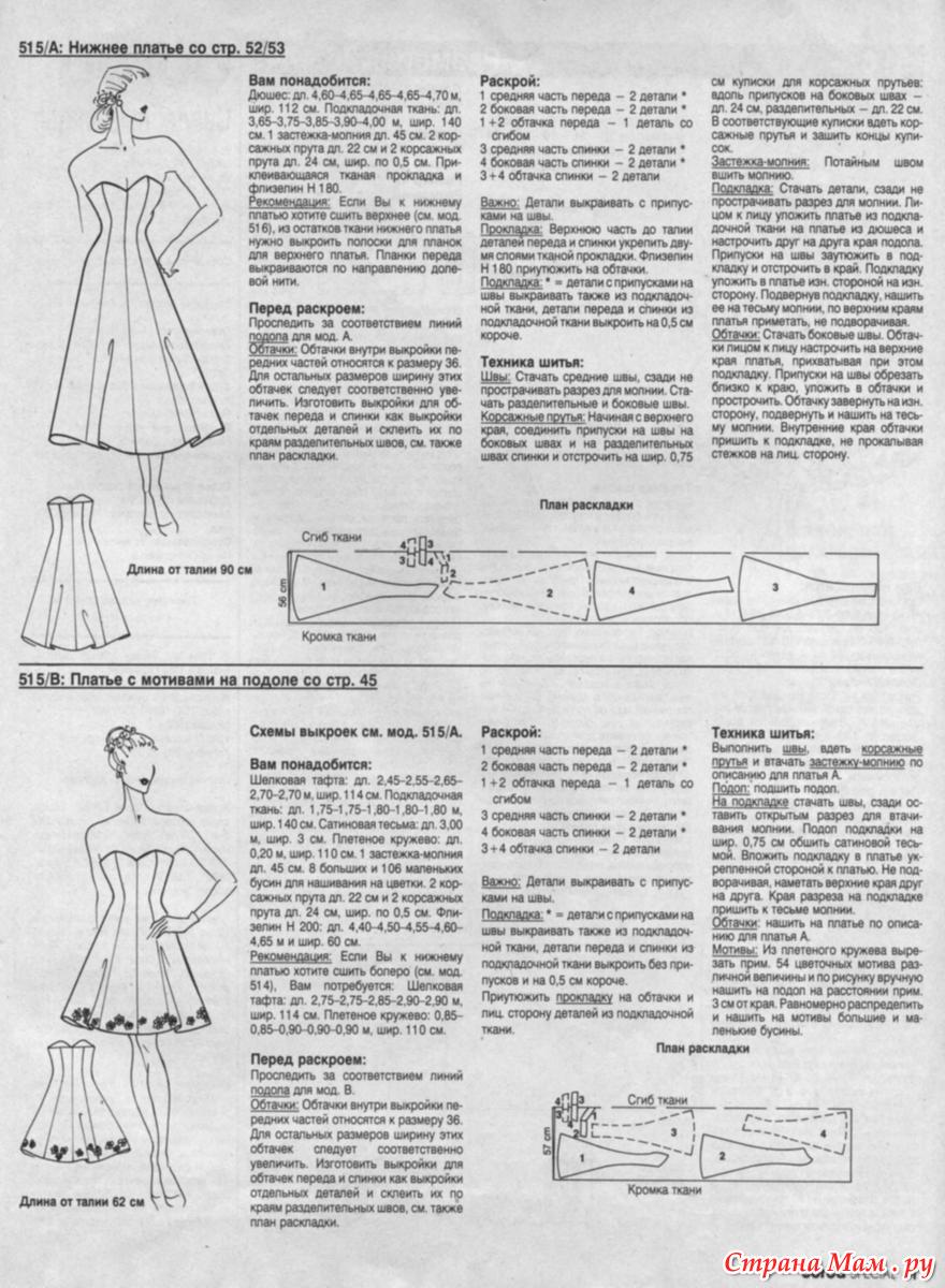 Выкройки платьев для беременных из журнала бурда 82